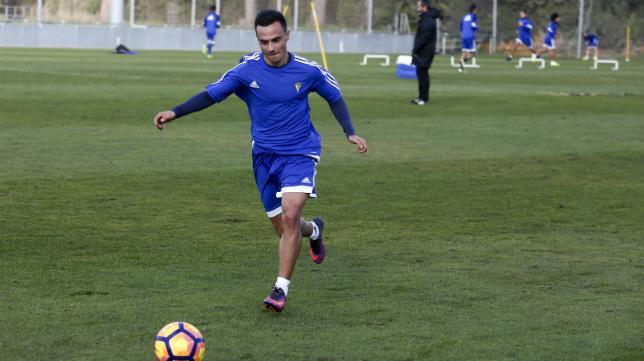 Álvaro García, en un entrenamiento.
