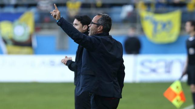 Álvaro Cervera, durante el partido.