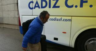 Cervera, antes de un viaje del Cádiz CF.