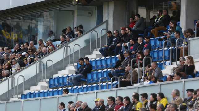 Imagen del palco de Carranza durante un partido del Cádiz CF.