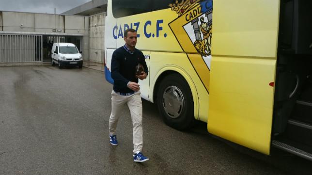 Servando, único jugador junto a Garrido que se mantiene en el Cádiz CF desde aquel 'play off'.