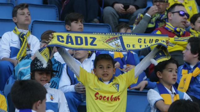 La afición del Cádiz CF nunca deja solo al equipo.