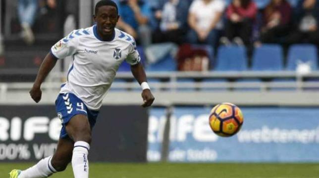 Samuel Camille, exjugador del Cádiz CF y ahora en las filas del Tenerife.