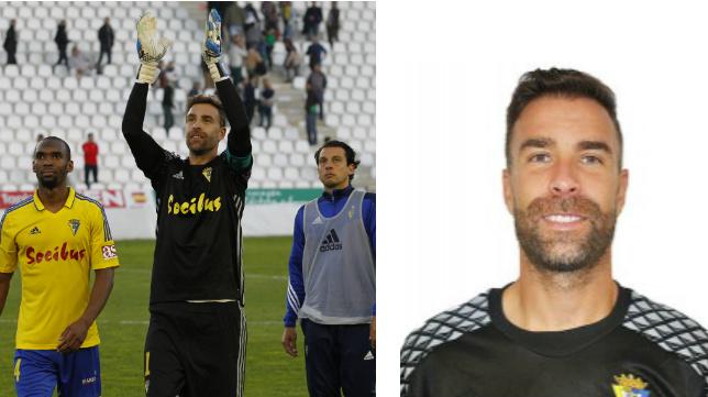 Alberto Cifuentes, portero del Cádiz CF.