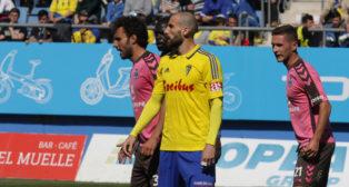 Iván Malón en el partido ante el Tenerife