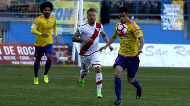 El Cádiz CF venció al Rayo la última vez que se vieron las caras en la capital gaditana.