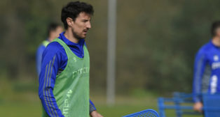 El delantero del Oviedo Toché.