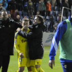 Felicitaciones a Aketxe tras su buen partido en Huesca, y es que fue decisivo.