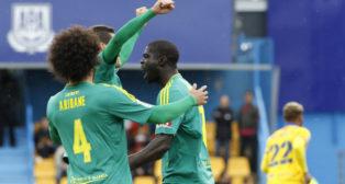 Sankaré celebra su gol