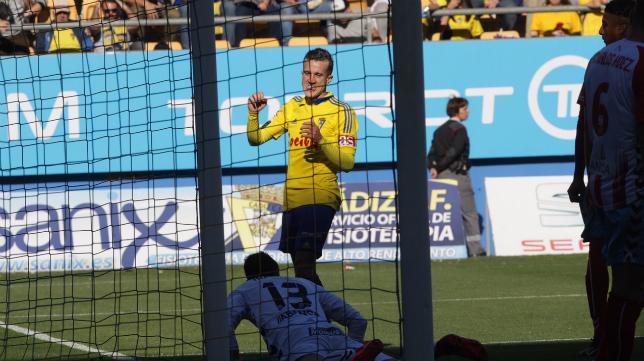 Salvi salió de inicio ante el Lugo.