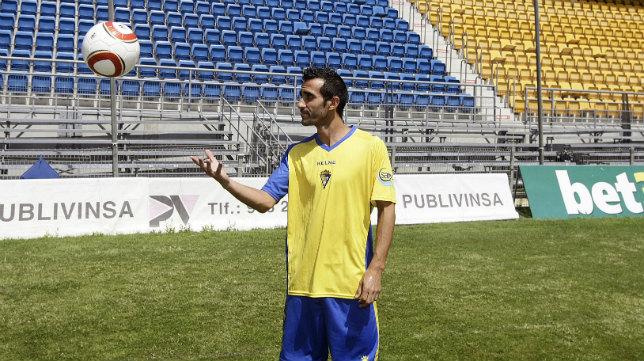 David de Coz, en su presentación como jugador del Cádiz CF.