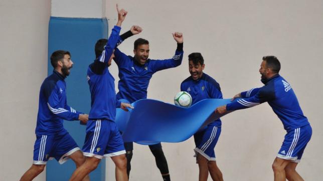 El pabellón de la UCA en Puerto Real acogió el entrenamiento de hoy.