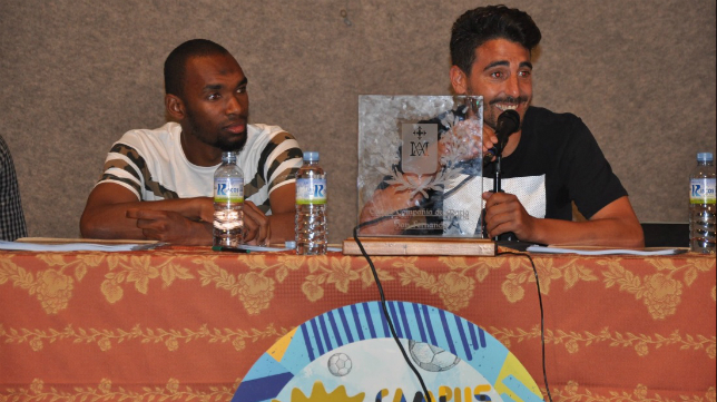 Abdullah y Carpio en la Compañía de María (Foto CCF)