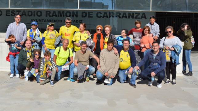 El grupo de mayores hizo parada hoy en Carranza.