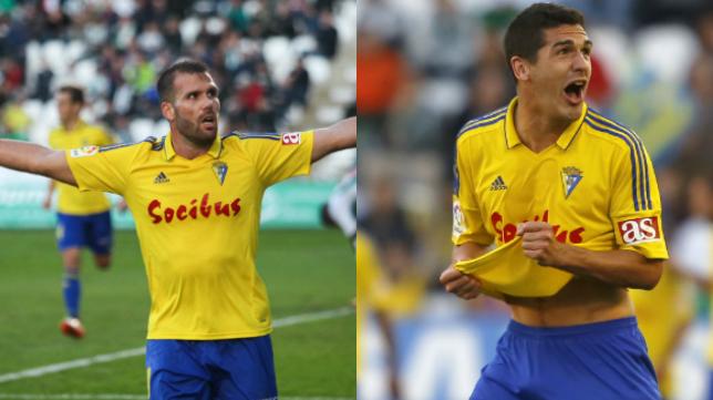 Ortuño y Garrido, dos jugadores importantes en este Cádiz CF