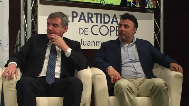 Manuel Vizcaíno y Quique Pina, en una imagen de hace unos meses en El Partidazo de Cope. Foto: Cadena COPE.