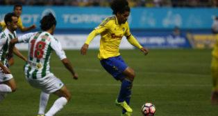 Aridane en el partido ante el Córdoba