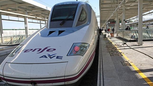El AVE, a su paso por Castilla-La Mancha.