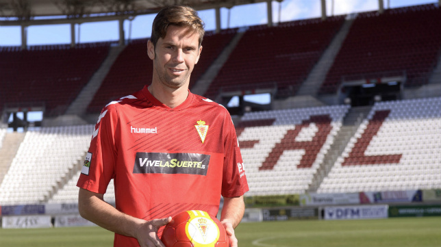 David Sánchez está luchando por ascender con el Murcia a Segunda.