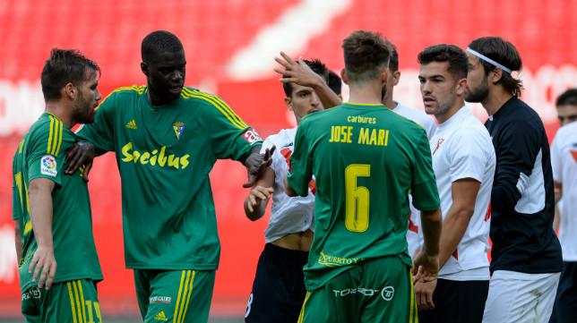 José Mari y Sankaré ante el Sevilla Atlético la pasada temporada