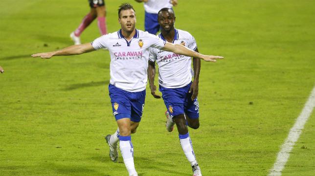Ortuño marcó siete goles con la camiseta del Zaragoza en media temporada.