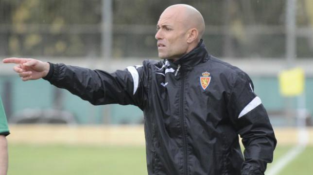 César Láinez, entrenador del Zaragoza.