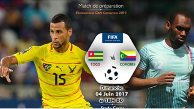 El amistoso entre Comores y Togo, con la imagen del cadista Abdullah.