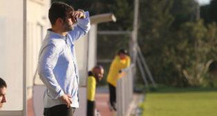 Mere. durante un partido del Cádiz CF B.