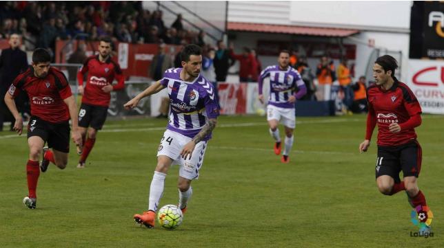 El Valladolid perdió dos puntos ante el Mirandés