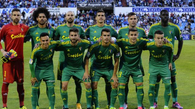 El Cádiz CF logró puntuar en La Romareda.