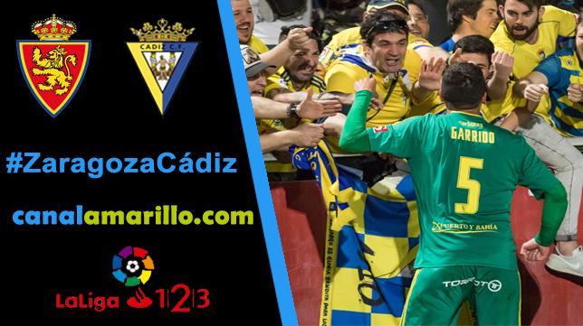 El Cádiz CF quiere dar la campanada en La Romareda