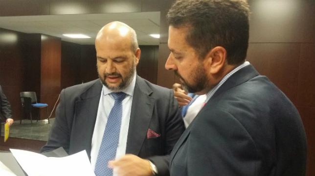 Enrique Zarza, en la última junta de accionistas del Cádiz CF..