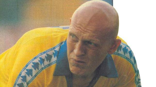 Dertycia, en su etapa en el Cádiz CF al comienzo de los 90.