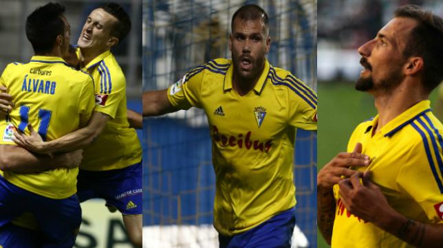 Álvaro, Salvi, Ortuño y Aitor, los máximos goleadores del Cádiz CF