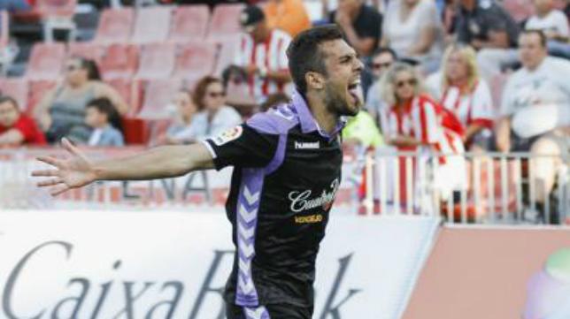 Joan Jordán, centrocampista del Valladolid. Foto: El Norte de Castilla.