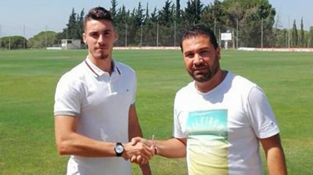 Miguel García y Juan Carlos Cordero. Foto: Cádiz CF.