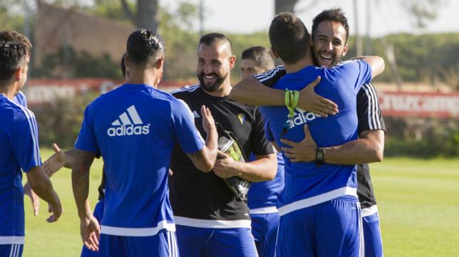 Imagen perteneciente al primer día de pretemporada del Cádiz CF 2016/17.
