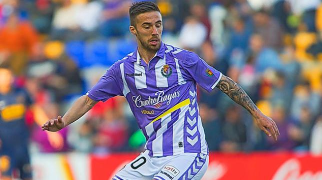 Sergio Marcos, centrocampista del Valladolid. Foto: Real Valladolid.