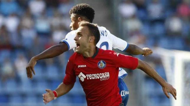 El Tenerife logra ganar al Getafe en el Heliodoro.