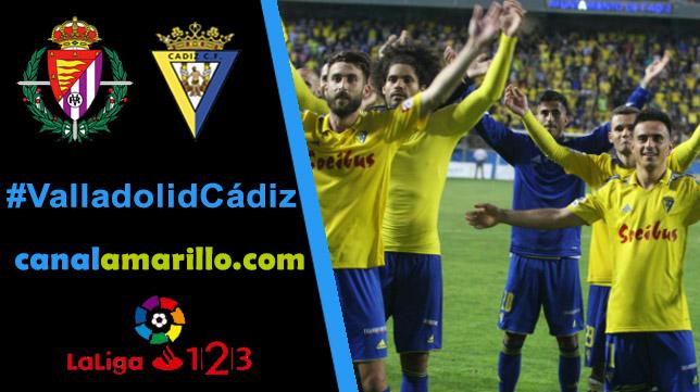 El Cádiz CF aspira a la tercera posición si gana en Valladolid