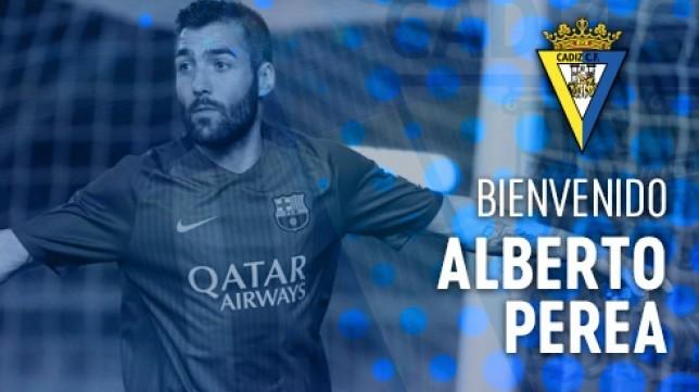 Alberto Perea ya es jugador del Cádiz CF