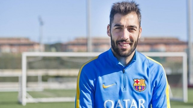 Alberto Perea en su etapa en el FC Barcelona
