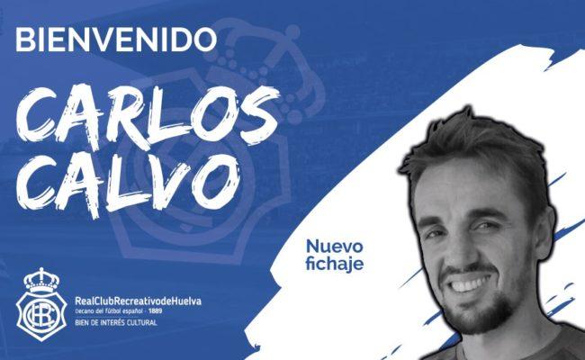 Carlos Calvo ya es nuevo jugador del Recreativo: Foto: Recreativo de Huelva.