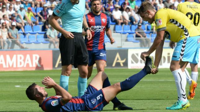 Borja Lázaro, durante su etapa en el Huesca.