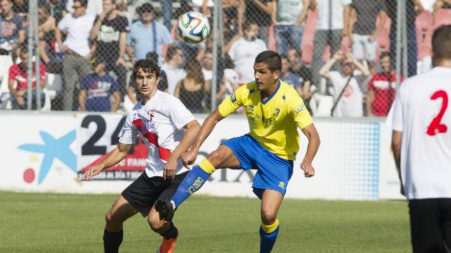 Juan Muñoz, en un partido de hace tres temporadas disputado entre el Sevilla Atlético y el Cádiz CF.