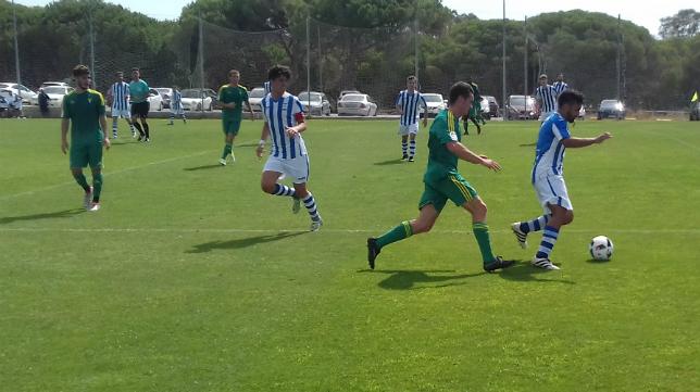 El Cádiz CF B goleó 6-0 al Jerez Industrial en El Rosal.