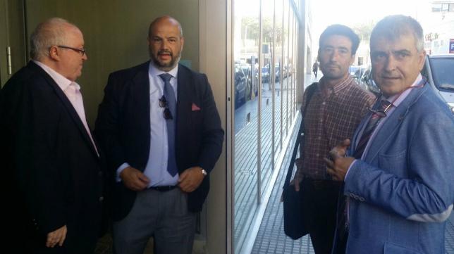 Enrique Zarza, en la última junta de accionistas, junto al exapoderado de Locos por el Balon, Carlos Medina, por el que pudo entrar en dicha junta.