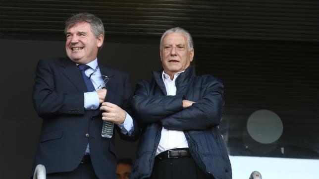 Manuel Vizcaíno y Juan José Pina, presidente y presidente de honor del Cádiz CF.