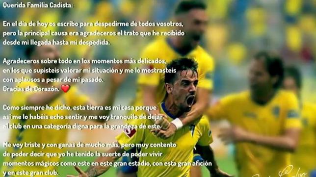 Carlos Calvo se ha despedido de la afición amarilla.