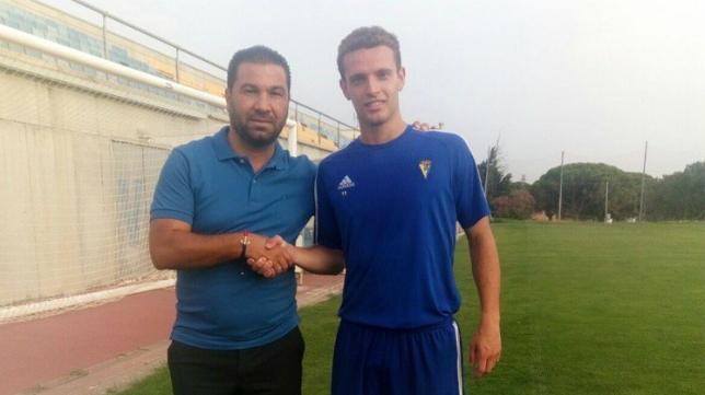 Jordi Tur, jugador del Cádiz CF B. Foto: Cádiz CF.